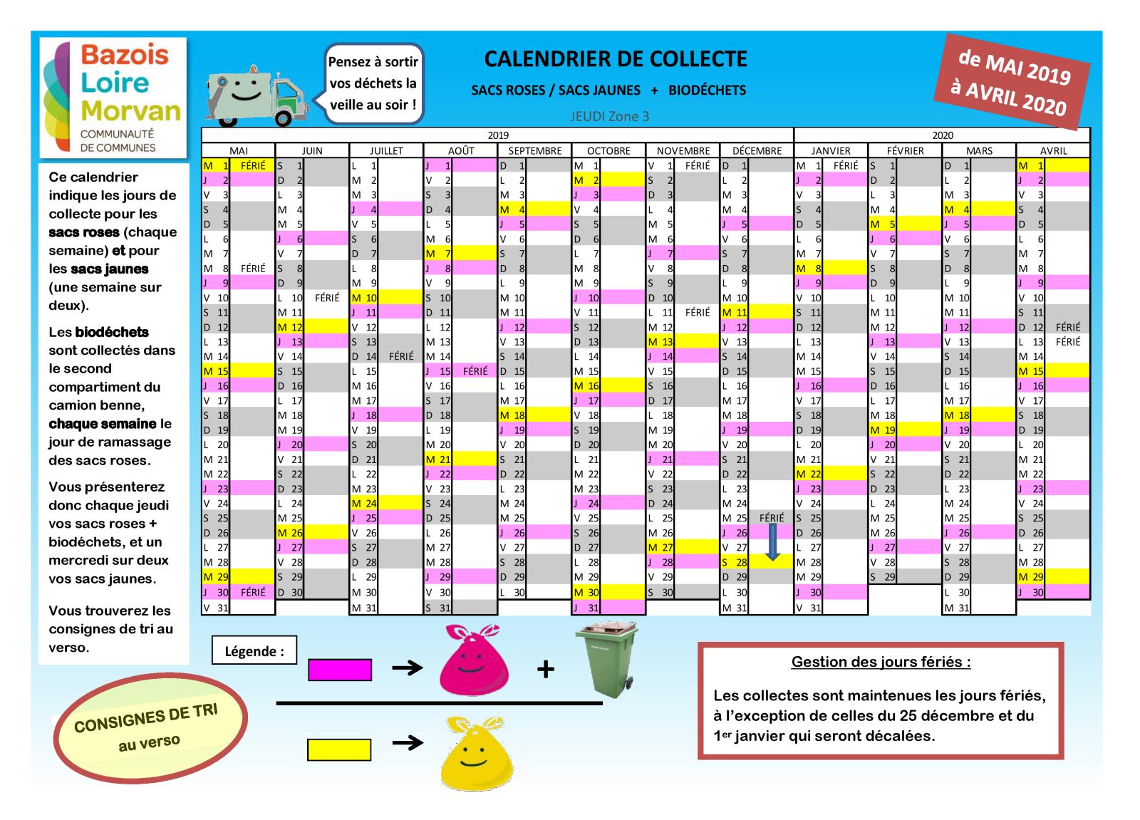 Calendrier Eboueur 2020.Dechets Et Tri Cercy La Tour